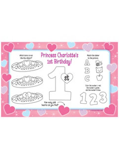 Princess 1st Birthday Personalized Activity Mat