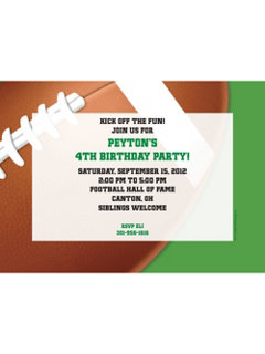 Football Party Personalized Invitation