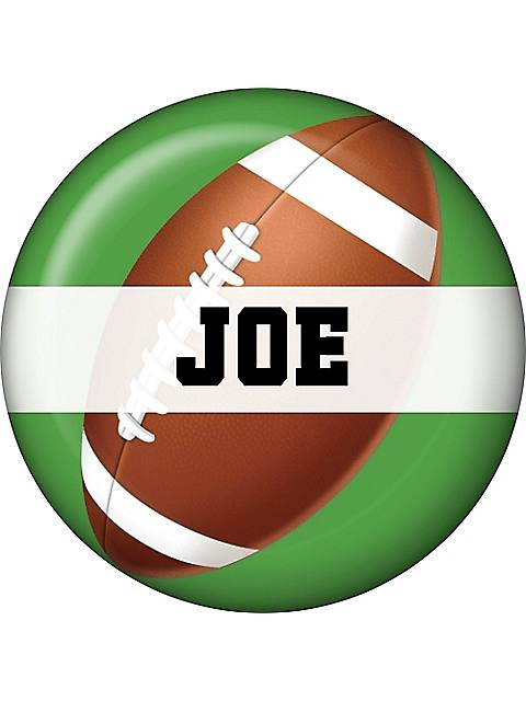 Football Party Personalized Mini Button