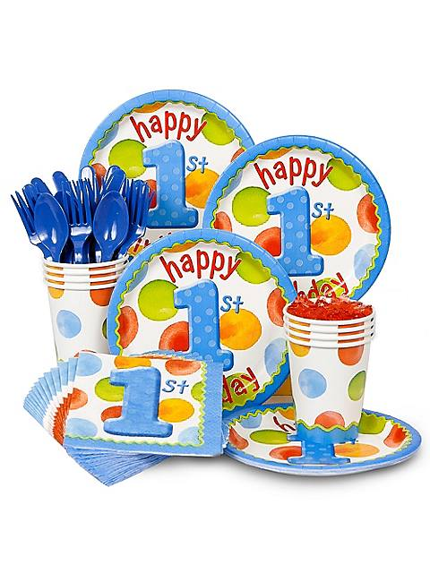 Polka Dot Boy's 1st Birthday Standard Kit