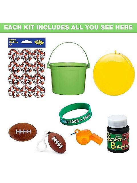 Deluxe Football Party Favor Kit
