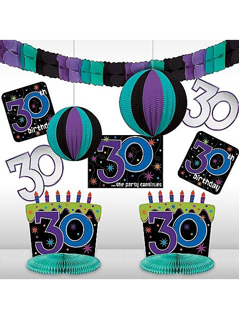 Cheap birthday party supplies balloons table wall for 30th birthday decoration packages
