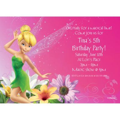 Tinkerbell Personalized Invitation