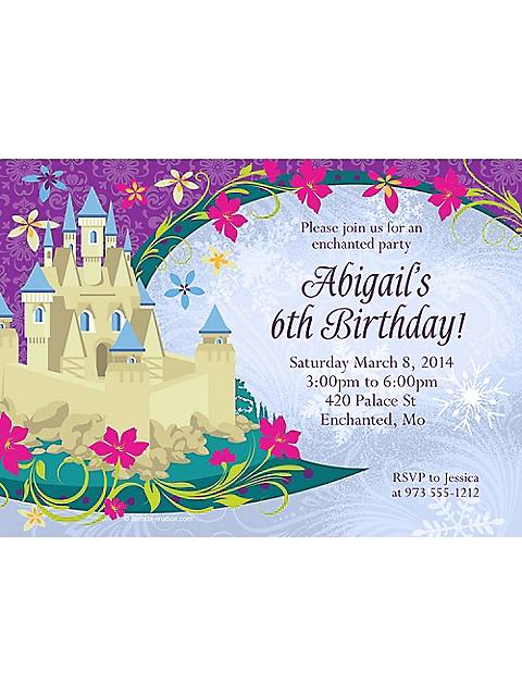 disney frozen personalized birthday invitation
