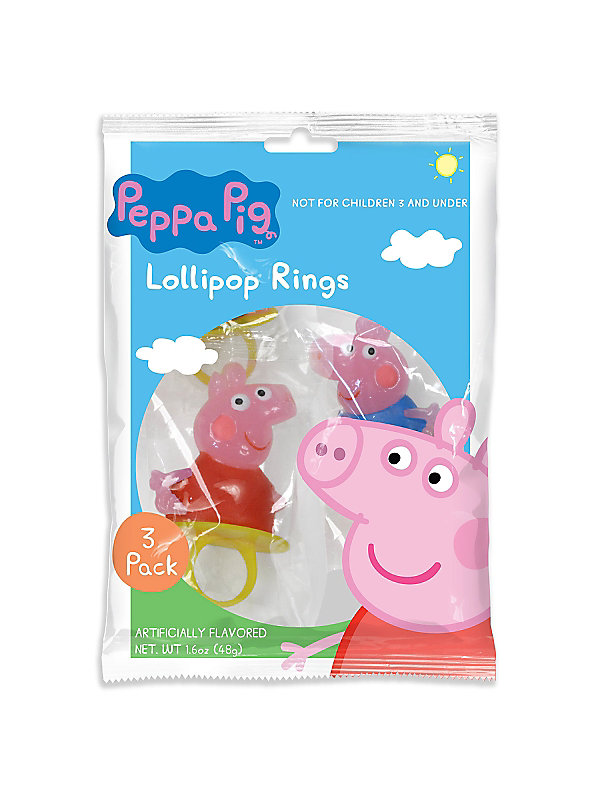 peppa pig candy ring 3 pack product id bb5008