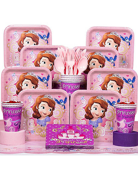 sofia the first deluxe kit serves 8. Black Bedroom Furniture Sets. Home Design Ideas