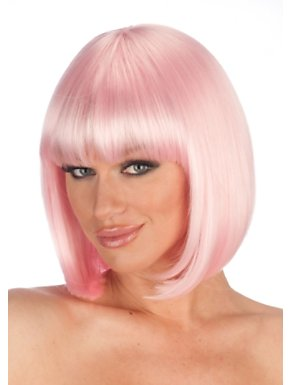Deluxe Pink Charm Wig Adult