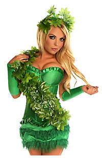 Women's Green Poison Ivy Costume