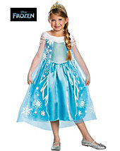 Frozen Elsa Deluxe Child Costume - disney - girls-costumes
