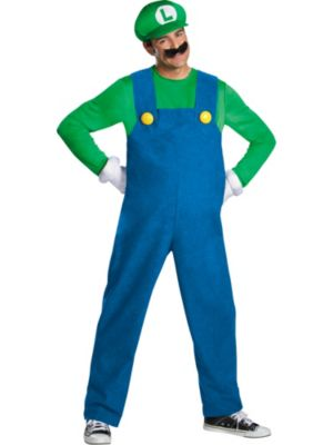 Click Here to buy Deluxe Adult Super Mario Bros Luigi Costume from Costume Super Center