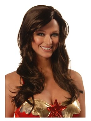 Deluxe Mocha Brown Divine Wig Adult