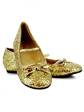 Gold Glitter Ballet Flats Girls