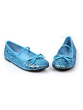 GIRLS BLUE BALLET FLAT SHOE
