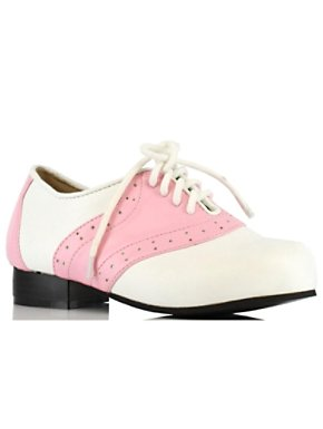 Pink and White Girl's Saddle Shoe