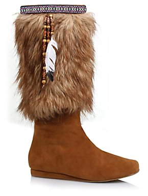 Women's Sexy Faux Suede and Fur Boot