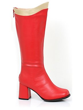 Women's Sexy Red & Gold Super Boot