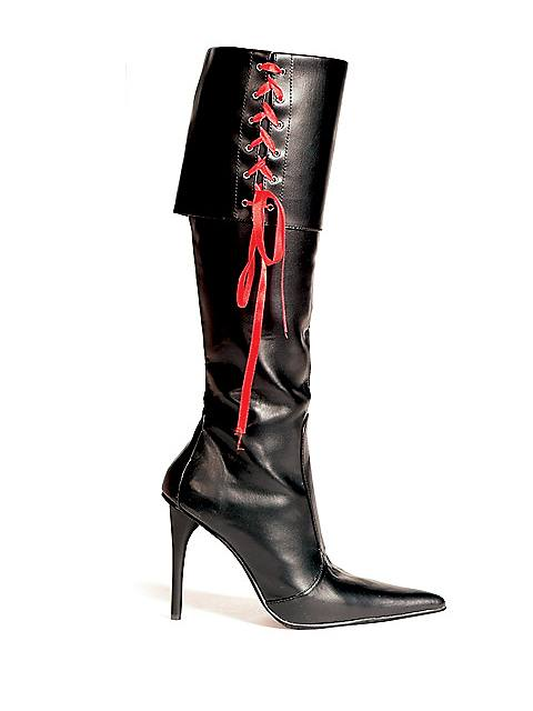 Sexy Black Pirate Boot Adult
