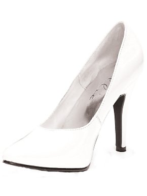 White Patent 5 Inch Classic Pump Adult