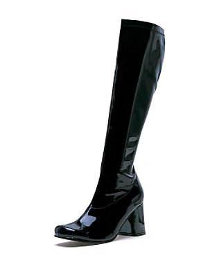 Black Patent Gogo Boot Adult