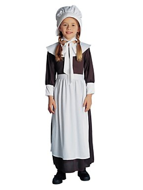 Colonial / Pilgrim Girl Costume for Child