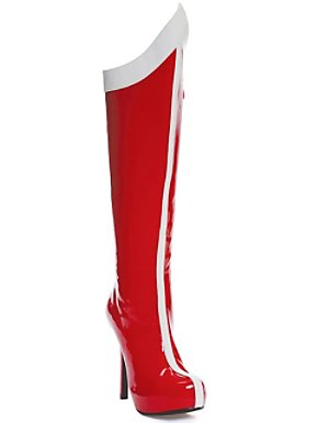 Red and White Super Hero Boots Adult