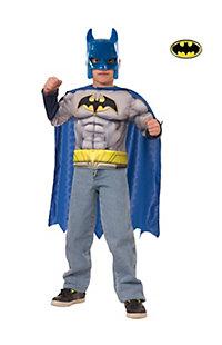Boy's Batman Muscle Chest Shirt Set Costume