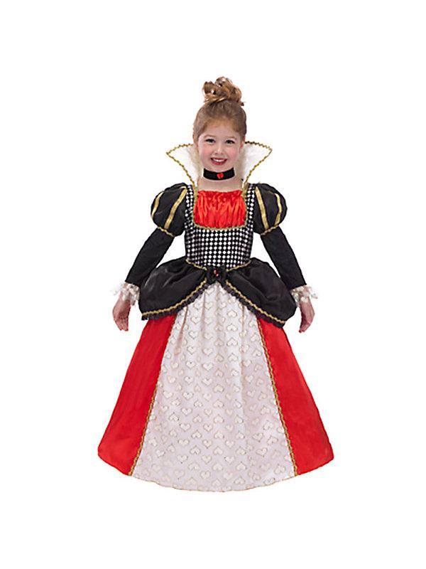 Queen of hearts fancy dress costume for kids medium ebay