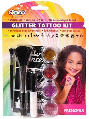 Glitter Princess Tattoo Kit