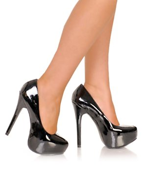 Adult Black Patent Platform Pump