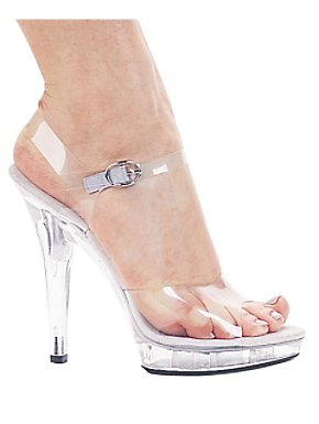 Clear Glass Slipper Brook Shoe Adult