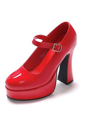 Red Patent Mary Jane Shoes Adult
