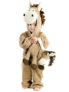 Toddler-infant Courduroy Horse Costume