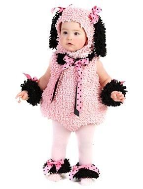 Toddler-infant Pinkie Poodle Costume