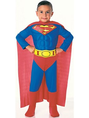 Deluxe Kids Superman Muscle Chest Costume