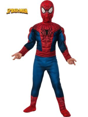 Click Here to buy Deluxe Amazing Spider-Man 2 Muscle Chest Kids Cost from Wholesale Halloween Costumes
