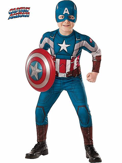 Captain America 2 Winter Soldier Retro Muscle Costume for Kids