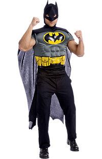 Men's Batman Adult Muscle Chest Top Costume