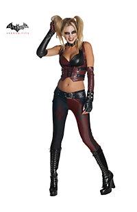 Women's Sexy Batman Arkham City Harley Quinn Costume