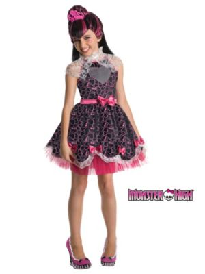Click Here to buy Draculaura Sweet 1600 Monster High Deluxe Kids Cos from Costume Super Center