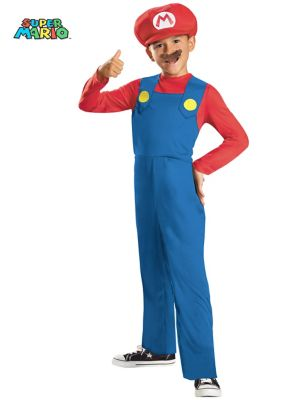 Click Here to buy Super Mario Bros Mario Boys Costume from Wholesale Halloween Costumes