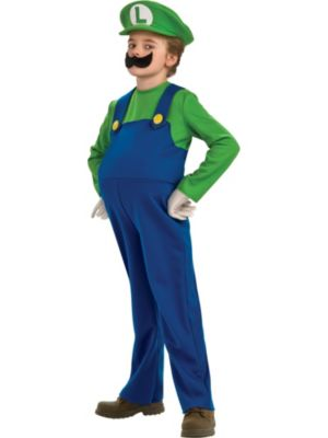 Click Here to buy Deluxe Super Mario Bros Luigi Boys Costume from Wholesale Halloween Costumes
