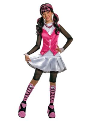 Click Here to buy Girl's Deluxe Draculaura Monster High Costume from Costume Discounters