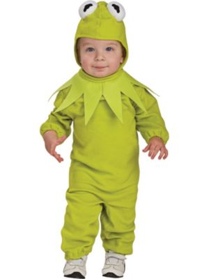 Click Here to buy The Muppets Baby/Toddler Kermit the Frog Costume from Costume Super Center