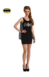 Women's Sexy Batgirl Rhinestone Tank Dress Costume