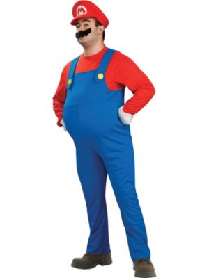 Click Here to buy Men's Super Mario Bros Deluxe Mario Costume from Wholesale Halloween Costumes