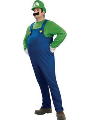 Click Here to buy Mens Super Mario Bros Deluxe Luigi Costume from Wholesale Halloween Costumes
