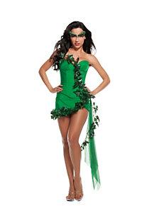 Women's Sexy Deluxe Green Ivy Girl Costume