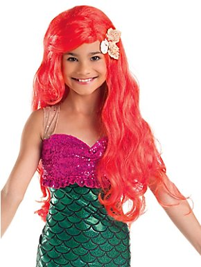 Girl's Red Mermaid Wig