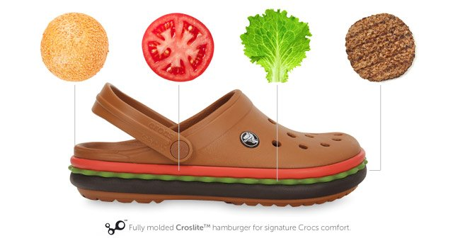 crocband hamburger unisex clog product diagram