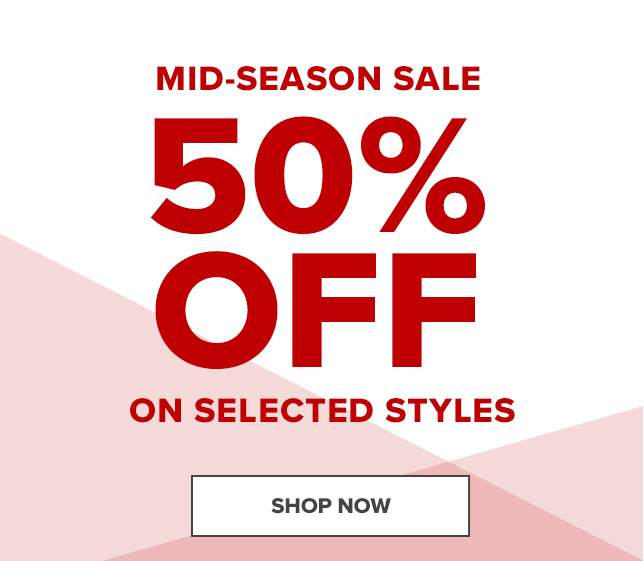 MID-SEASON SALE 50% OFF